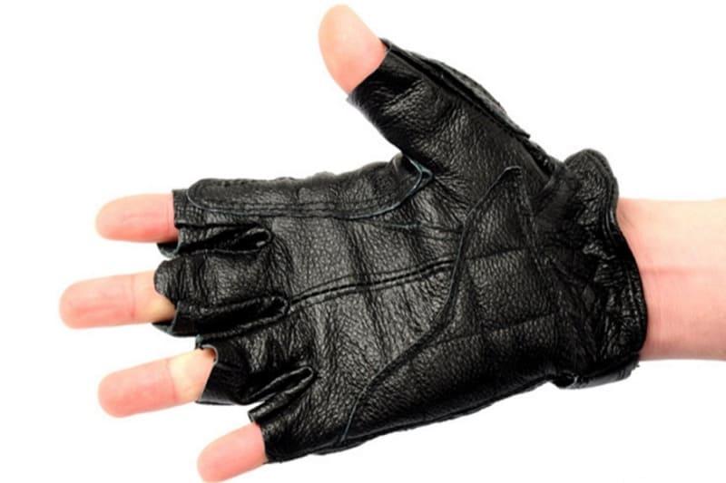 Găng tay da bò hở ngón