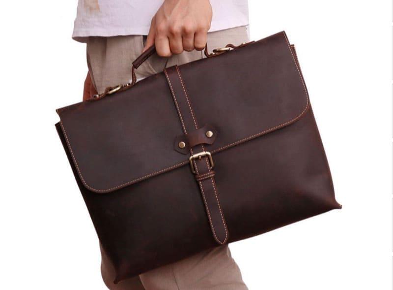 Túi da bò laptop công sở