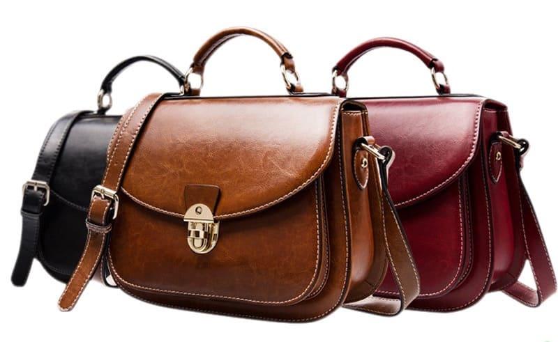 Túi xách da bò handmade dành cho chị ewm