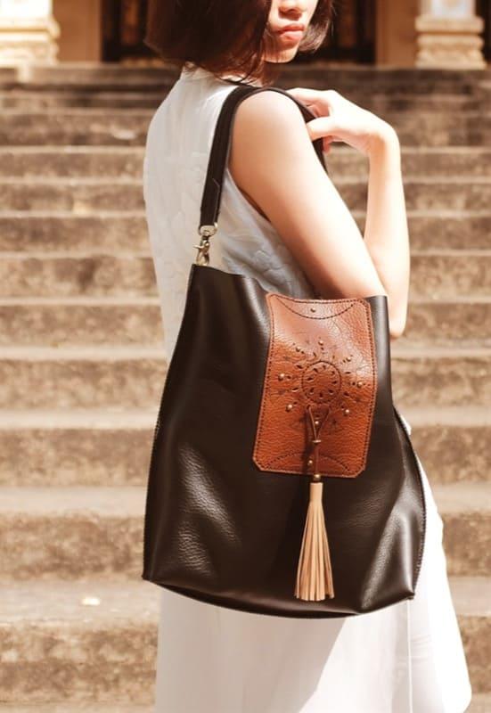 Túi nữ da bò handmade