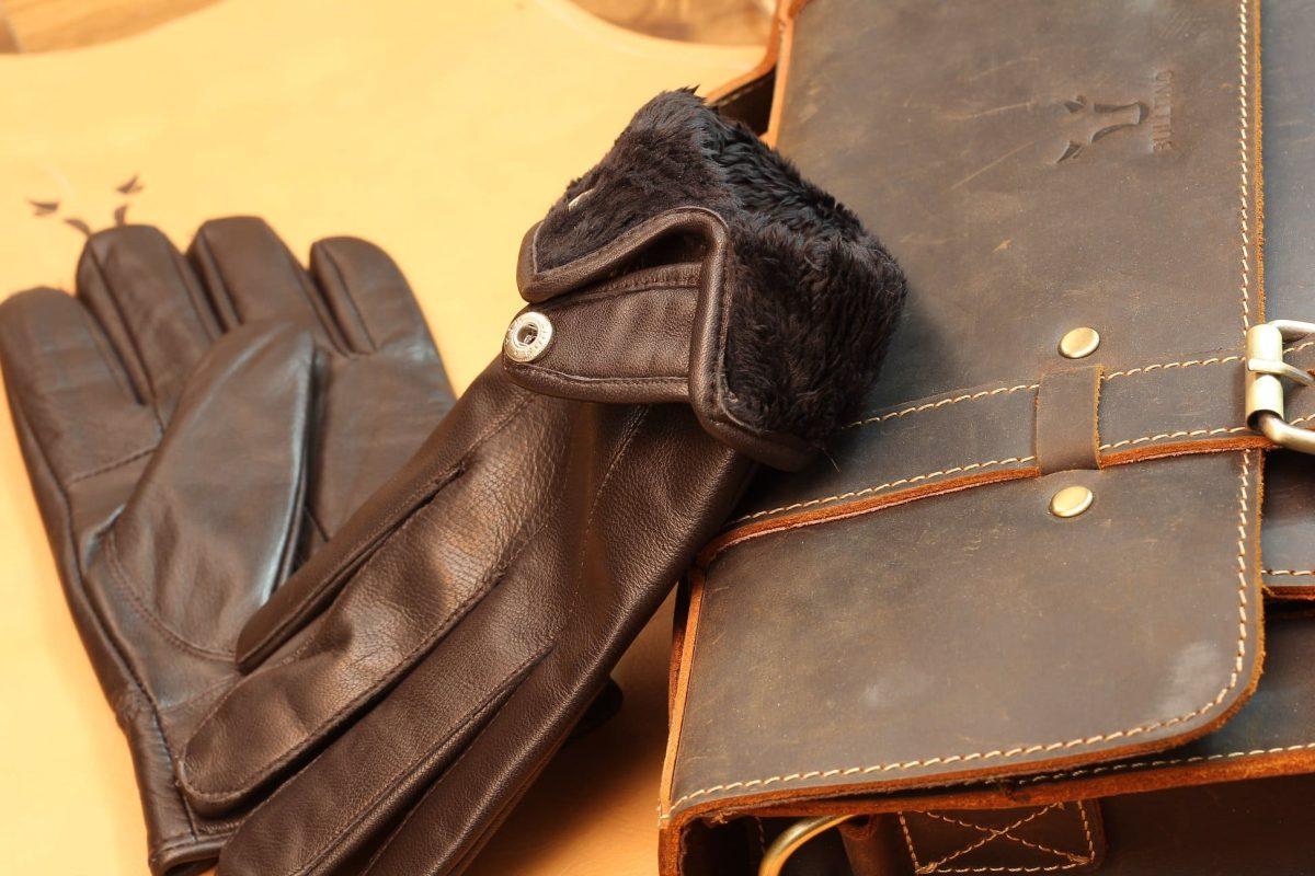 Găng tay da cừu lót lông