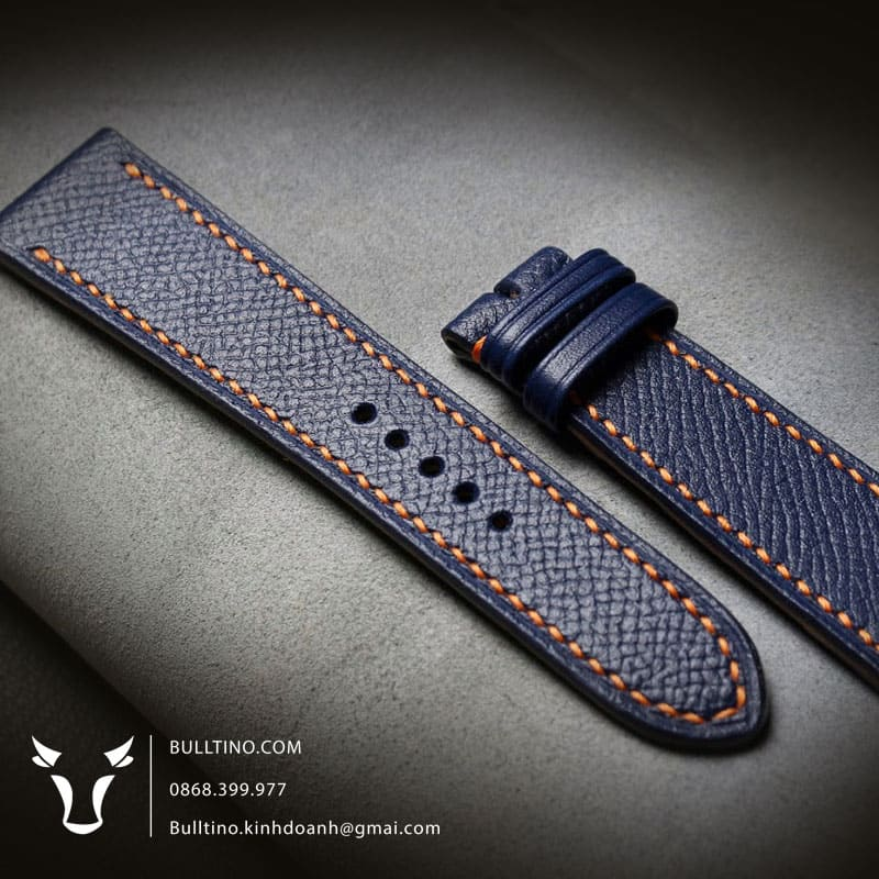 Da Epsom pháp được sử dụng làm dây đồng hồ da thật handmade